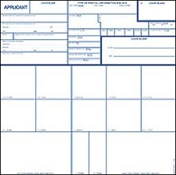 Dallas TX Mobile Fingerprinting - FBI FD258 card